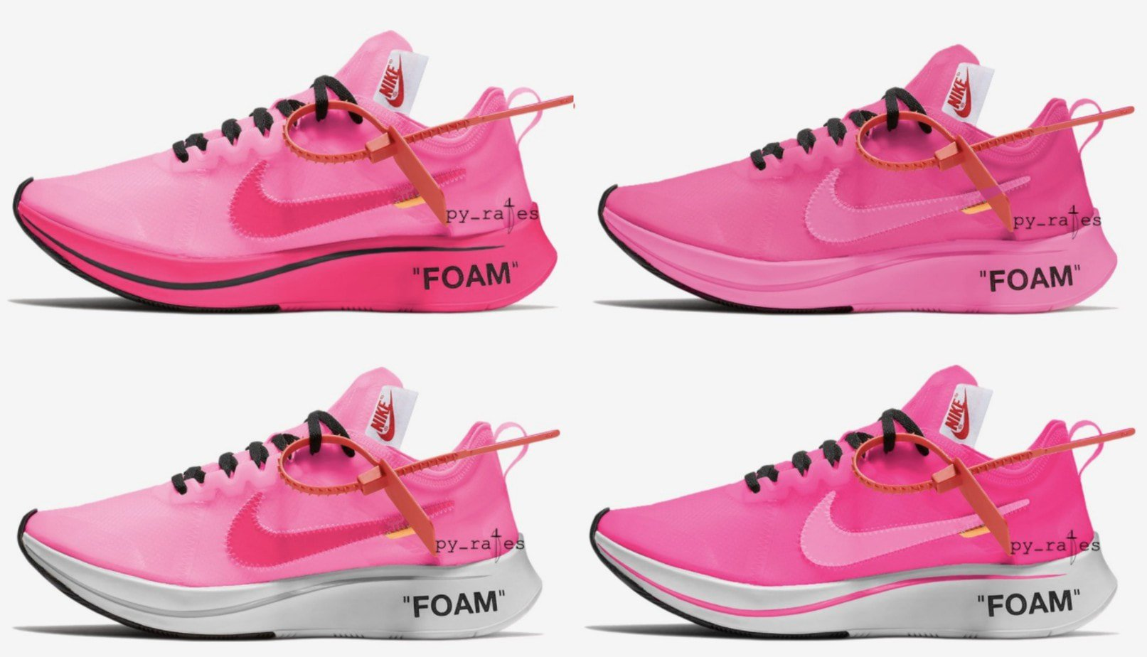 new product fc345 e6631 Off White and Nike Introduce a New Pink Colorway With the Zoom Fly