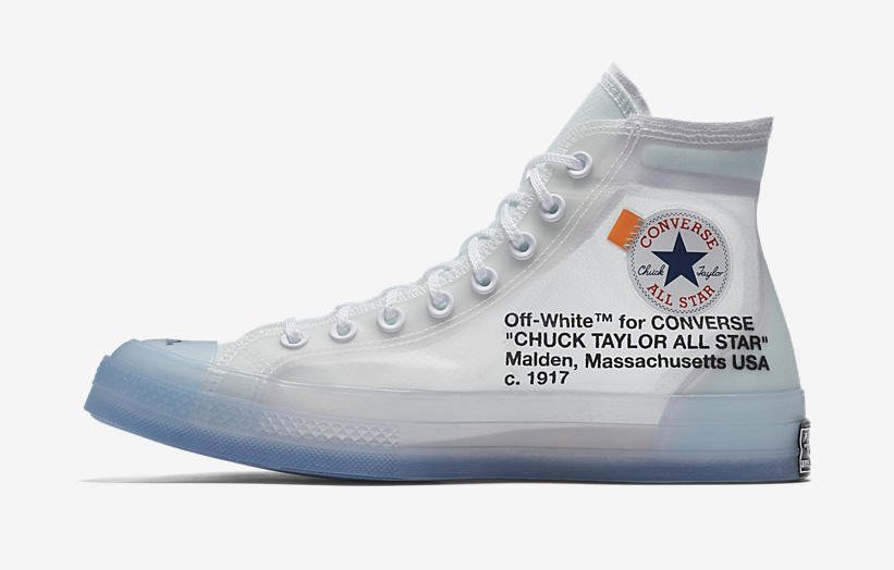 Off-White x Converse Chuck 70. Color  Clear White-White Style Code   162204C-102. Release Date  May 12 48331fa02