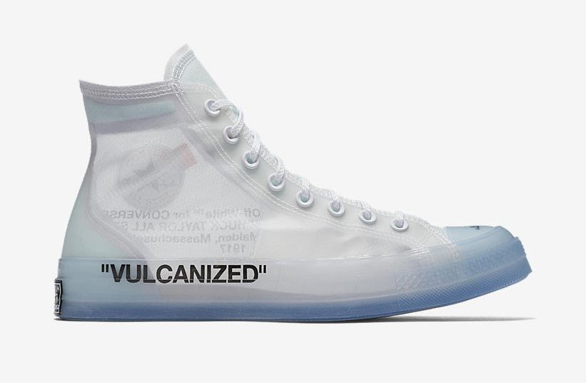 1ea86c7b4695e Off-White x Converse Chuck 70. Color  Clear White-White Style Code   162204C-102. Release Date  May 12