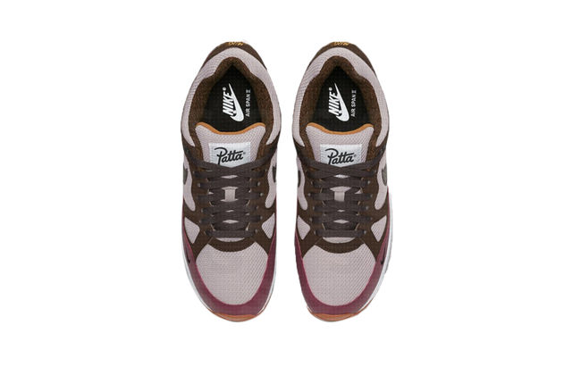 e3533e78bad449 Patta x Nike Air Span II Release Date  Coming Soon Price   100. Color   Sail Brown Burgundy Style Code  AO2925-600