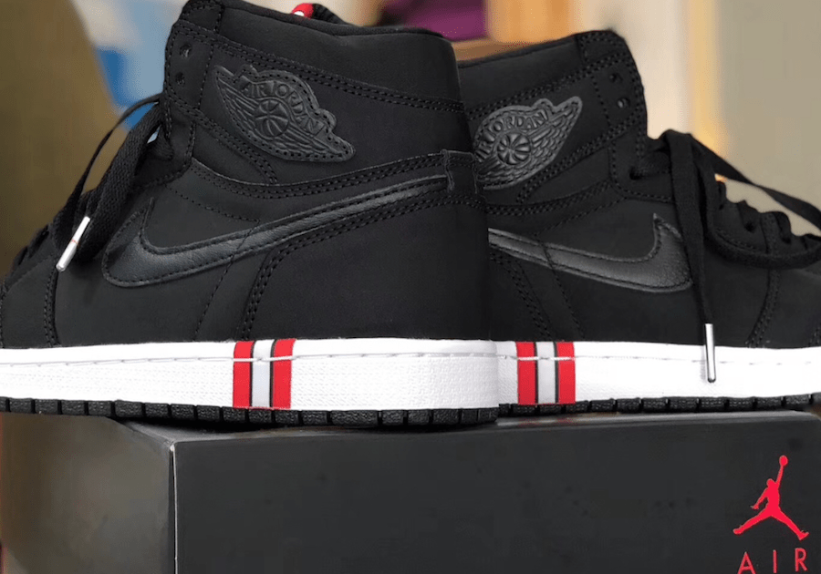 5a749d6e72a97d The post The Air Jordan 1 High Dons Paris Saint-Germain Branding in New  Images appeared first on JustFreshKicks.