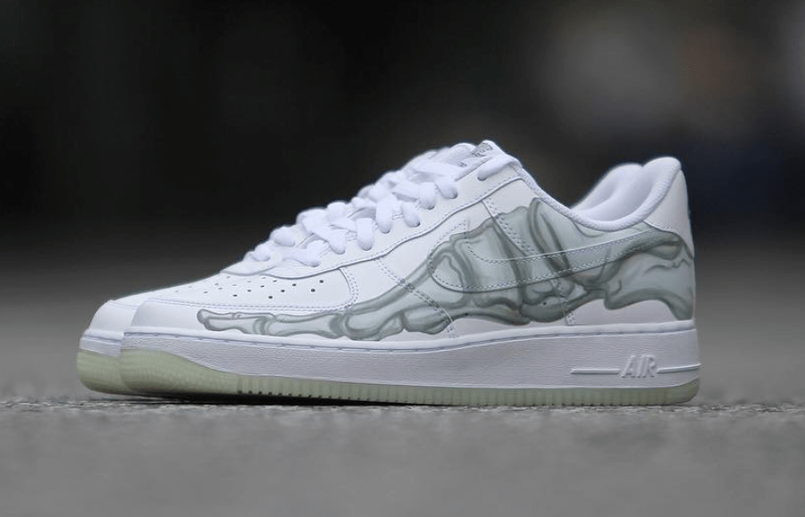 "official photos 4496d 562ef Nike Air Force 1 QS ""Skeleton"" Release Date  October 31st, 2018. Price    130. Color  White White-White"