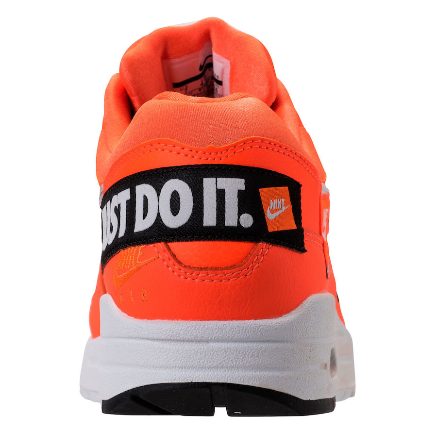 """newest bb2e3 ee315 Nike WMNS Air Max 1 Lux """"Just Do It"""" Release Date  June 28, 2018. Price    150. Color  White Black-Total Orange"""