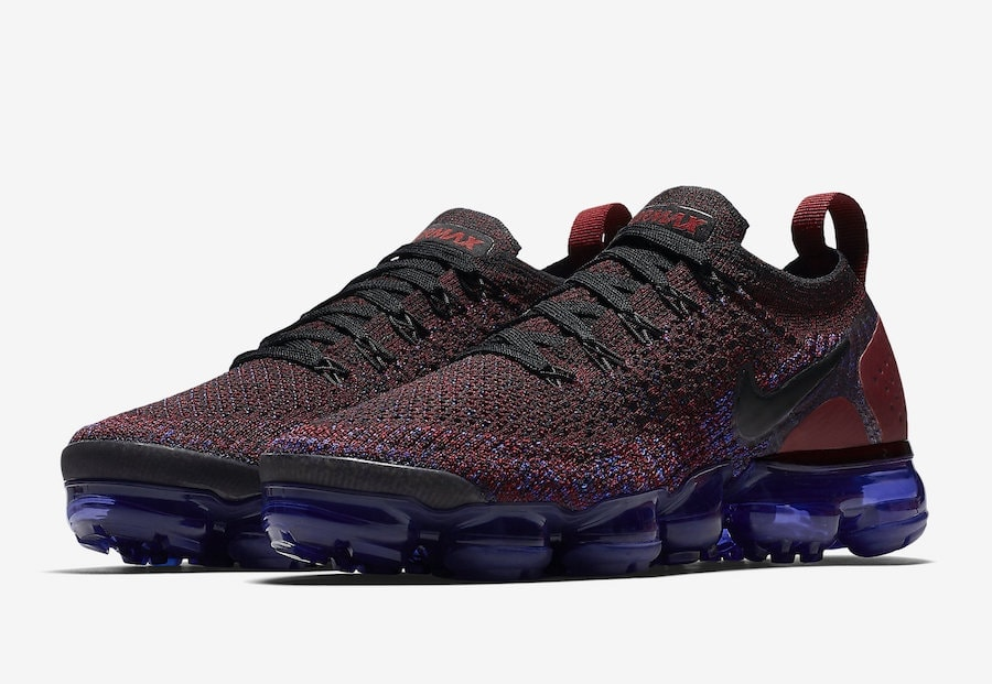 sports shoes cdae9 4f6af Nike Air Vapormax Flyknit 2.0 Red   Blue Release Info - JustFreshKicks