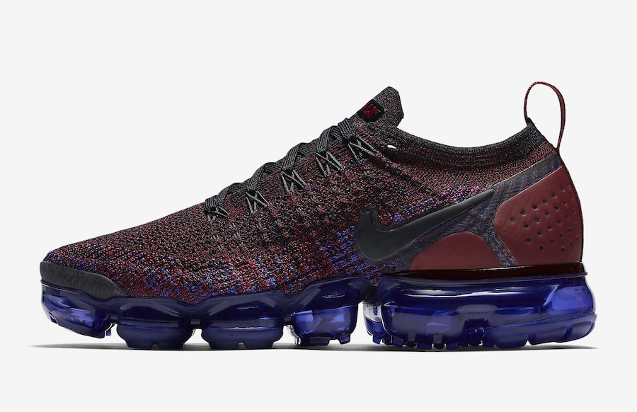 Nike Air VaporMax Flyknit 2. Color  Black White-Team Red-Racer Blue-Game  Royal Style Code  942843-006. Release Date  May 17 dc25bcf70