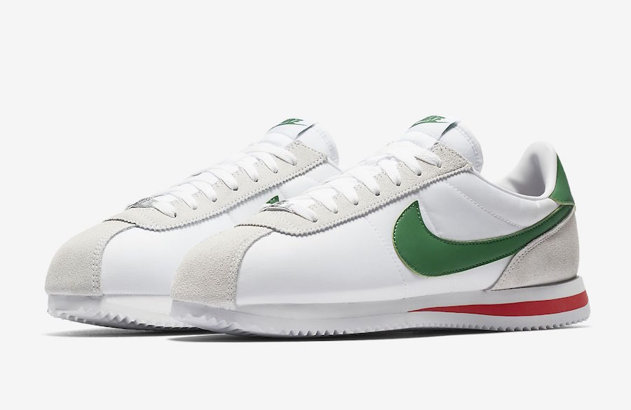 c83d0e7297db Nike Cortez Basic Nylon Release Date Available Now Price 70. Color White  Habanero Red- ...