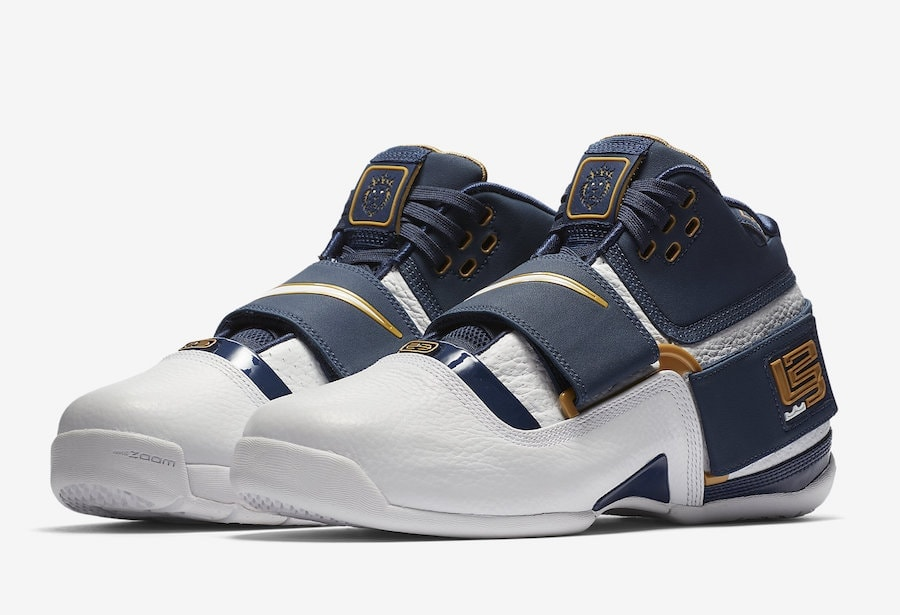 "0291c534c536 Nike Zoom LeBron Soldier 1 ""25 Straight"" Color  Midnight  Navy White-Midnight Navy Style Code  AO2088-400. Release Date  May 31"