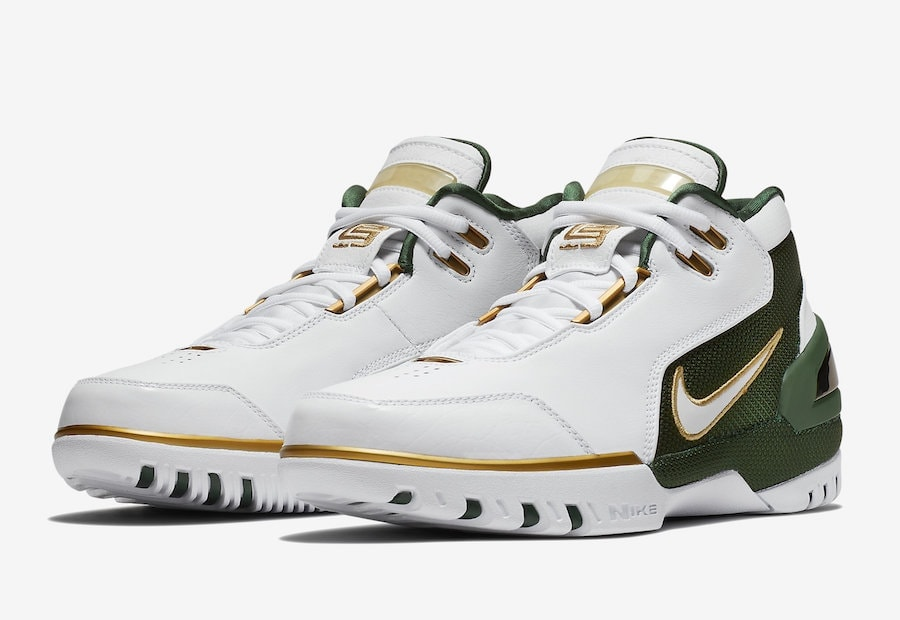 best website 2aaf8 ce8f9 Nike Air Zoom Generation SVSM QS Color  White Metallic Gold Dust Deep  Forest-White Style Code  AO2367-100. Release Date  May 26, 2018. Price   175