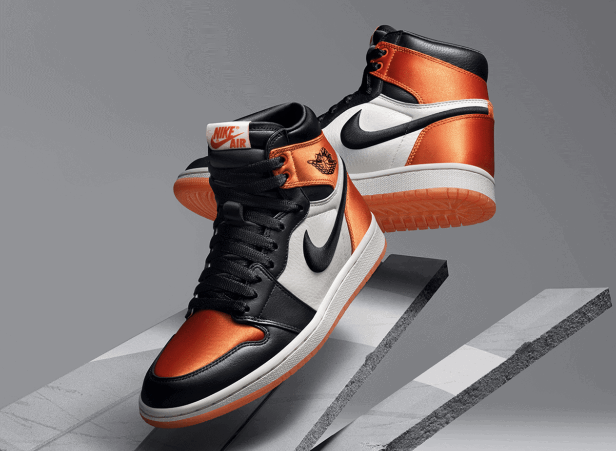 """5cfa31b96508 Today marked the release of the women s Air Jordan 1 Satin """"SBB"""". Despite  being the most high-profile sneaker release in women s sizing in a while"""