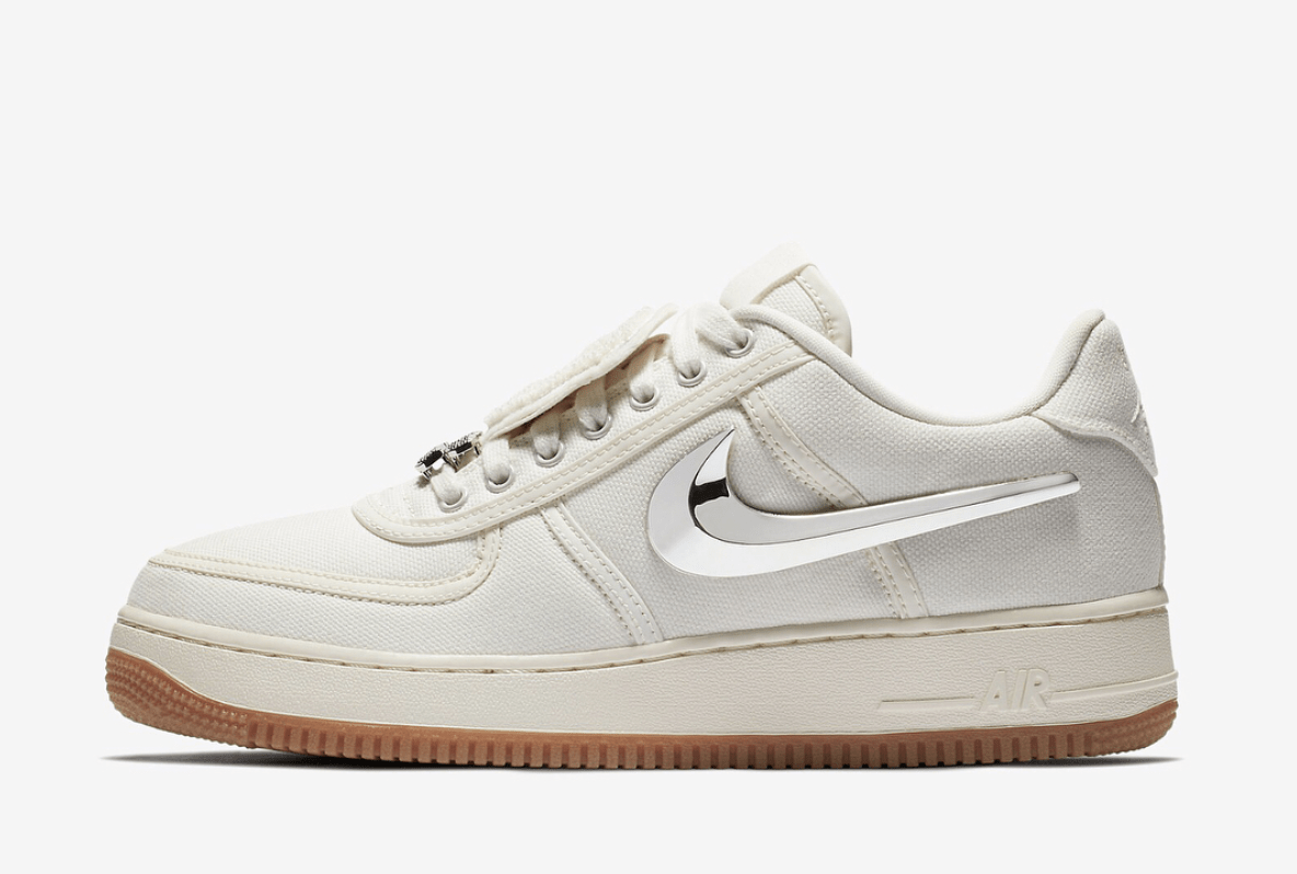 "get cheap c31a2 99a17 The post Travis Scott s Nike Air Force 1 Low ""Cactus Jack"" is Coming in  Sail This July appeared first on JustFreshKicks."