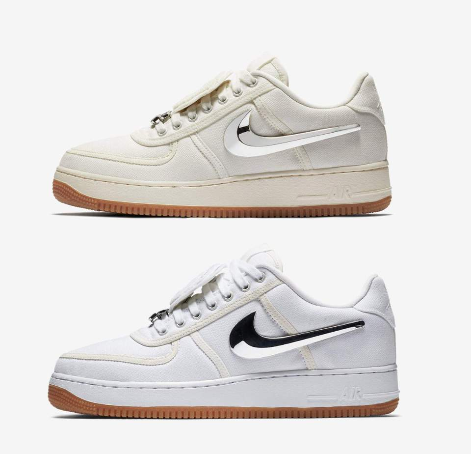 268c05968c9f Travis Scott x Nike Air Force 1 Low Release Date  July 2018. Price   150.  Color  Sail Gum Light Brown Sail