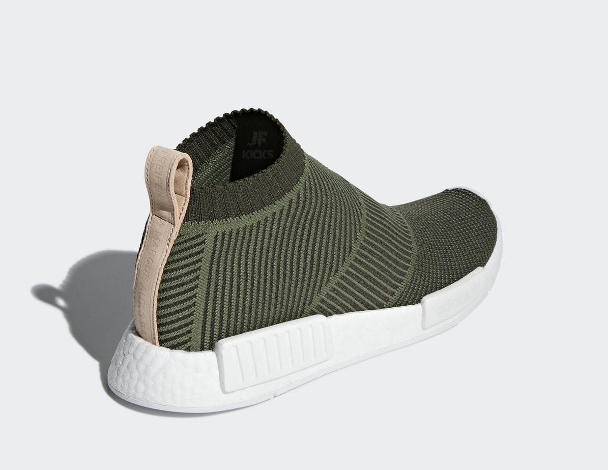 """960a5501bdd76 The post The adidas NMD City Sock is Releasing Soon in a Premium """"Night  Cargo"""" Colorway appeared first on JustFreshKicks."""