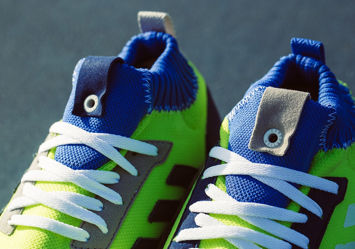 """sale retailer 66aaa 52c9e adidas Consortium Ultra Boost Mid """"Prototype"""" Release Date  May 12th, 2018.  Price   220. Color  Solar Yellow Hi-Res Blue White Style Code  BD7399"""