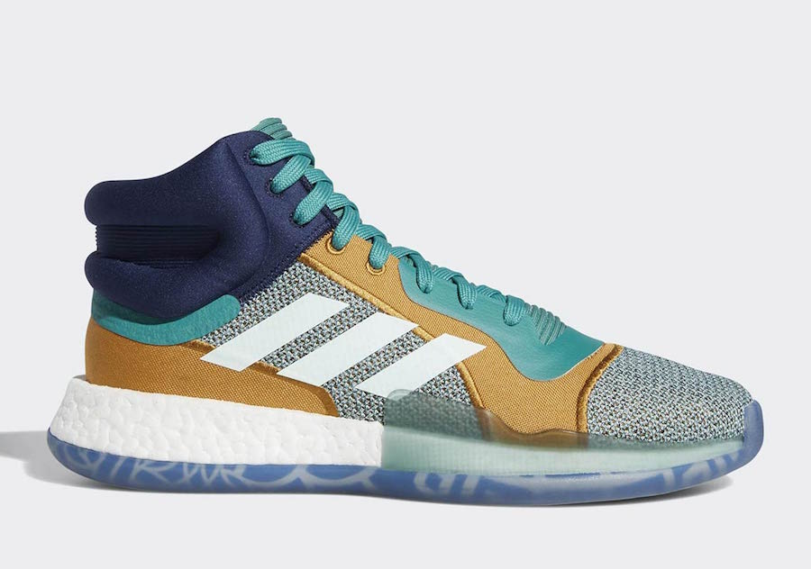 save off 8664e aa2d6 adidas Marquee Boost Mid Release Date December 2018. Price 150. Color  Footwear WhiteCore Black-Aero Blue Style Code BB7822