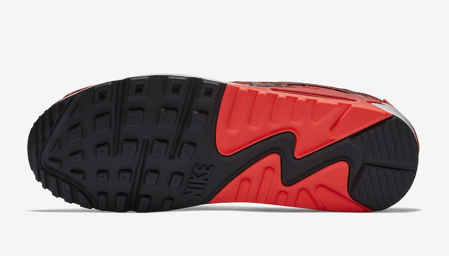 "the latest 9a274 21ee3 Nike Air Max 90 Print ""We Love Nike"" Release Date  May 17th, 2018. Price    140. Color  Black Bright Crimson-White Style Code  AQ0926-001"