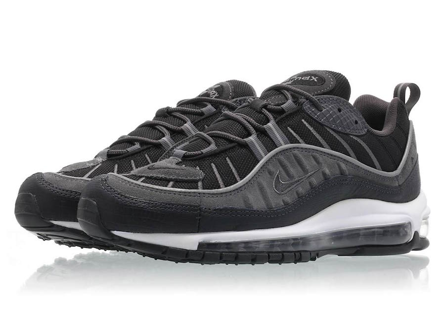 83e6b544359 Nike s Air Max 98 is coming in new colorways for everyone this year. The  latest colorway to grace the layered upper covers the shoe in Anthracite  tones