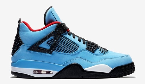 dd3b18d5ec9d Release Date Details. Travis Scott x Air Jordan 4 Color  University Blue Varsity  Red-Black Style Code  308497-406 ...