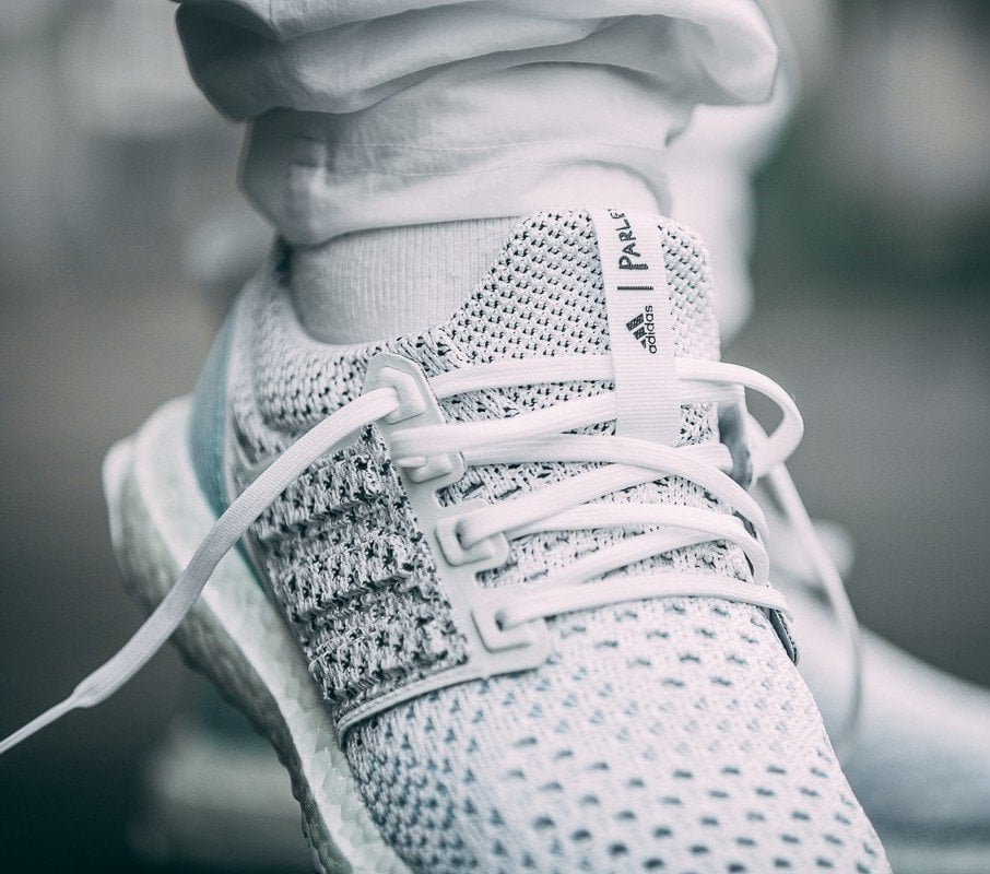 c659292ecb7a1 Parley x adidas Ultra Boost LTD Color  Footwear White Footwear White-Blue  Style Code  BB7076 Release Date  June 8