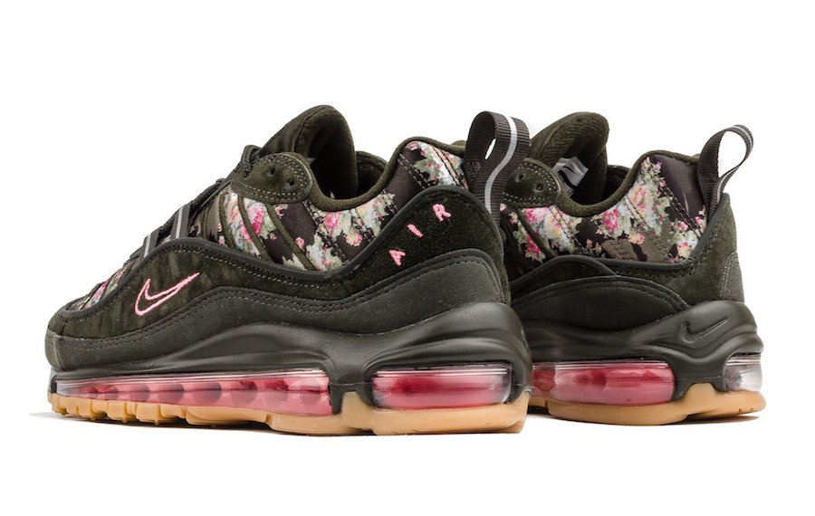 "new style 11f4c fd72d Nike Air Max 98 WMNS ""Sequoia"" Release Date  Available Now Price   180.  Color  Sequoia Rose Pink Anthracite Style Code  AQ6468-300"