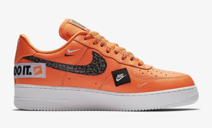"low priced 2f777 cf3d0 Nike Air Force 1 Low ""Just Do It"" Release Date  June 2018. Price   130.  Color  Total Orange Total Orange-Black-White Style Code  AR7719-800"
