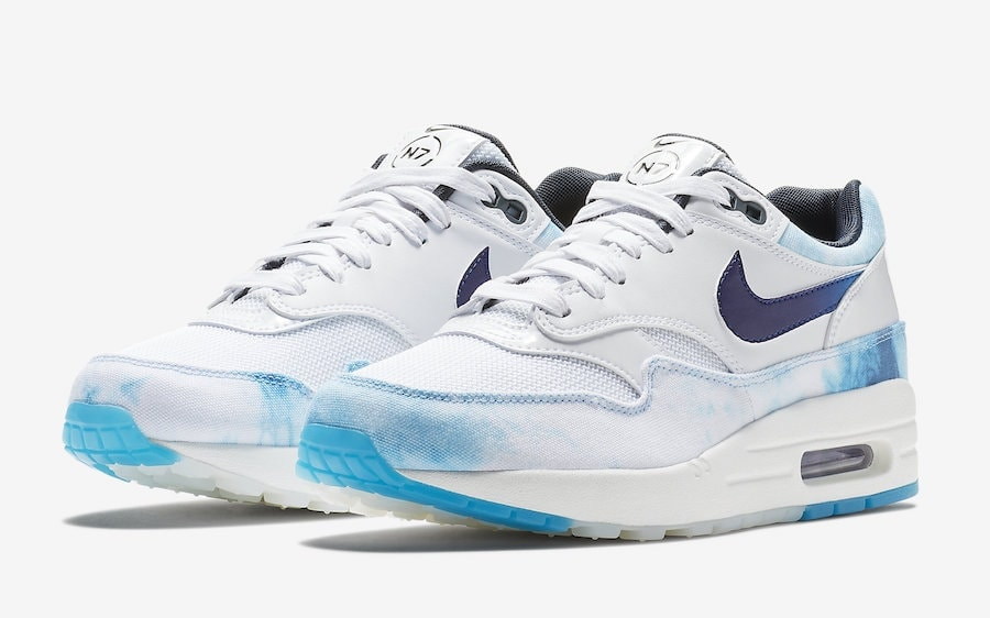 """55f43fdd8d50ed Nike Air Max 1 """"N7"""" Release Date  July 2018. Price   140. Color   White Court Purple-Dark Obsidian Style Code  AO2321-100"""
