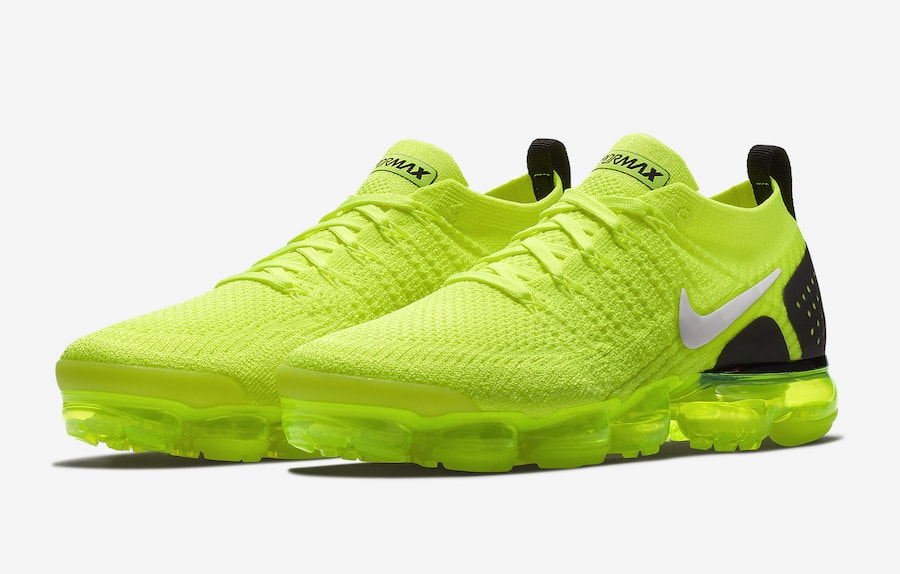 f5183c2c05d5 Nike Air VaporMax 2 Flyknit Color  Volt White-Black Style Code  942842-700.  Release Date  July 5