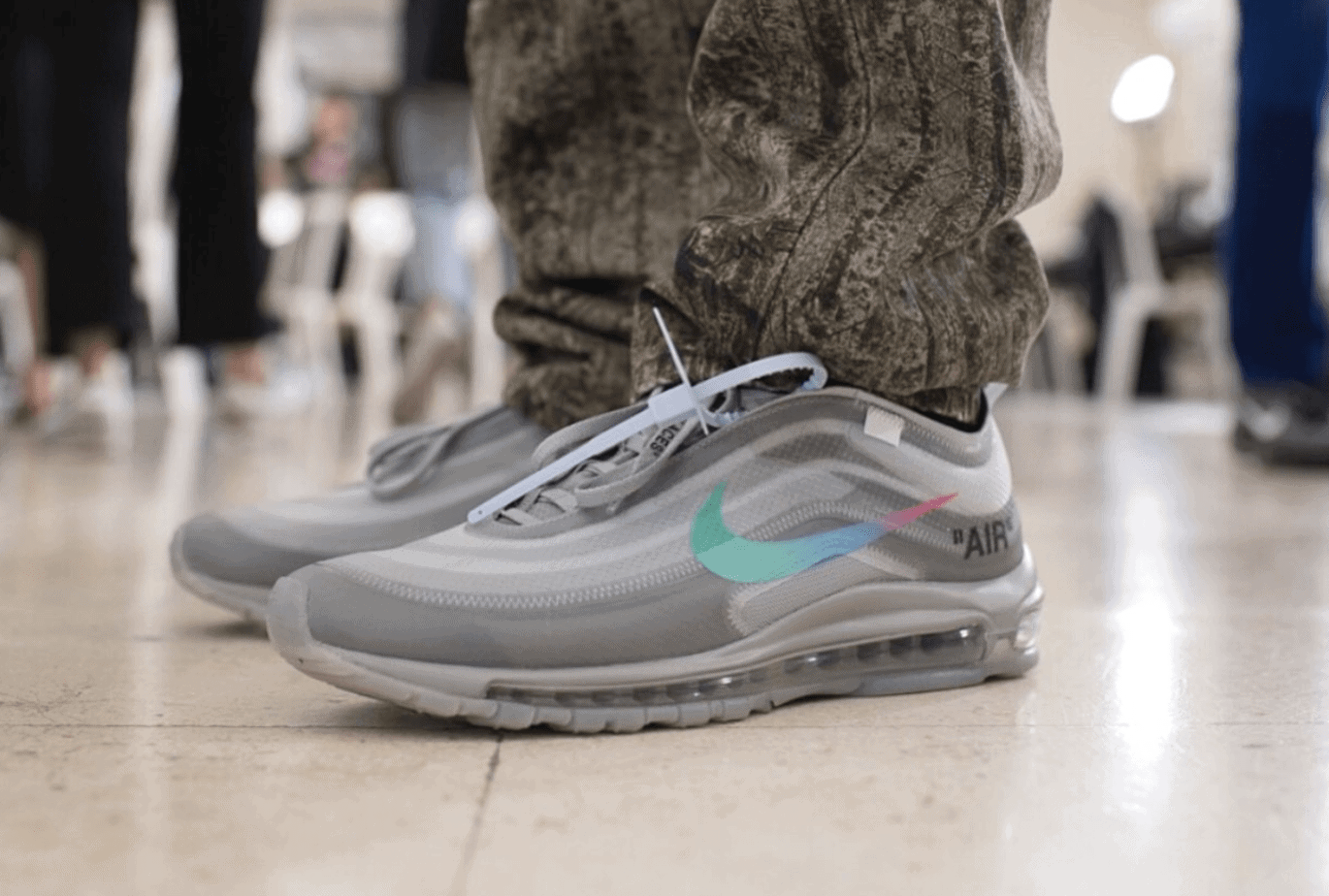 timeless design f132a af308 Virgil Abloh Unveils a Slew of Upcoming Nike Colorways During is Off-White  Fashion Show