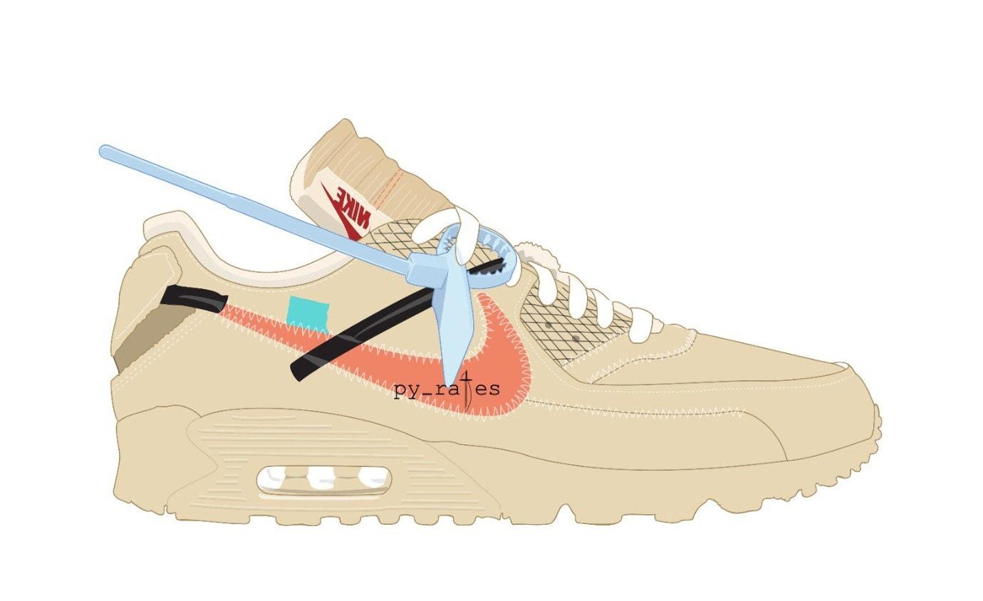"13726c82073 Off-White x Nike Air Max 97 ""Desert"" Release Date  October 2018. Price    160. Color  Desert Ore Desert Ore Hyper Jade Bright Mango Style Code   AA7293-200"