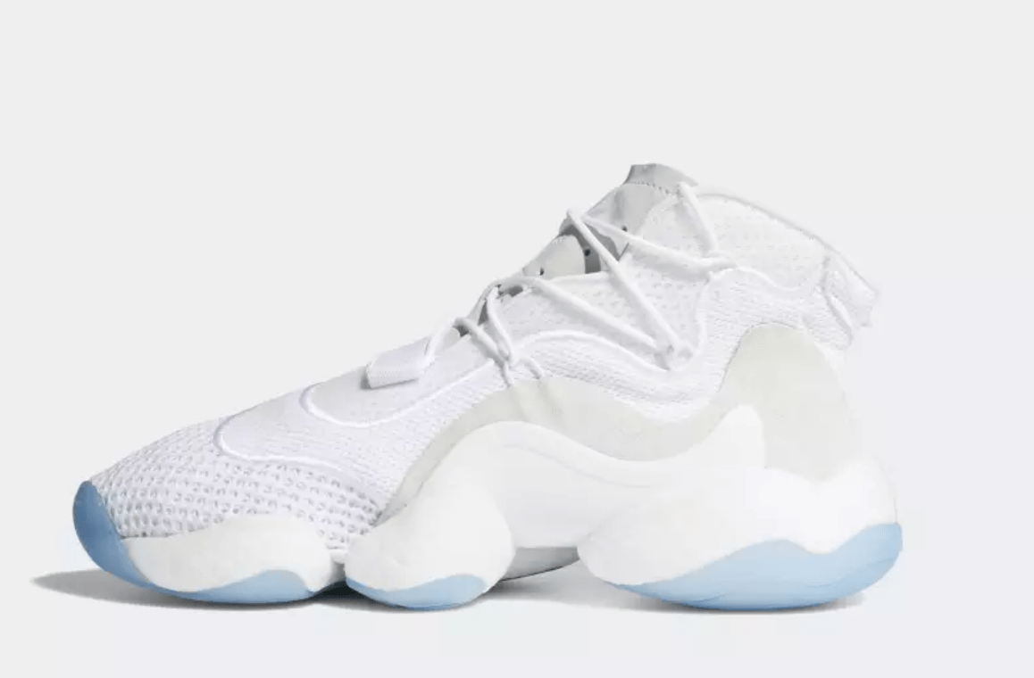 new arrival f56d7 0b6fc The post adidas Crazy BYW LVL 1 Arrives in a Smooth Triple-White Next Week  appeared first on JustFreshKicks.