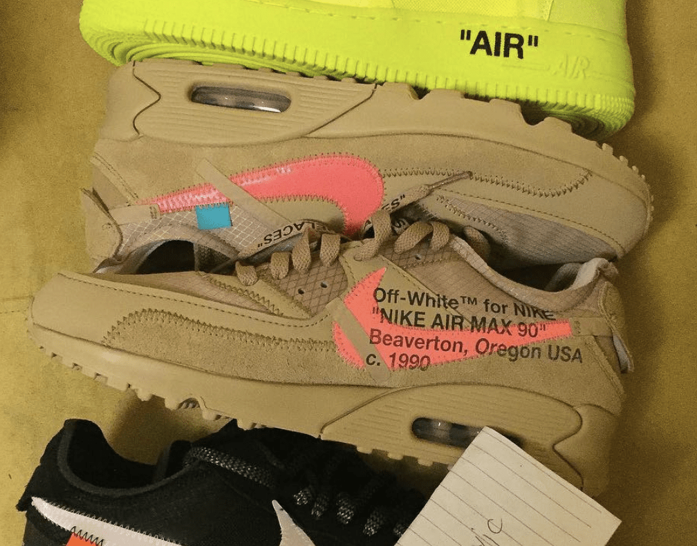 "best sneakers 4341d 95044 Off-White x Nike Air Max 97 ""Desert"" Release Date Late 2018Early 2019.  Price 160. Color Desert OreDesert OreHyper JadeBright Mango"
