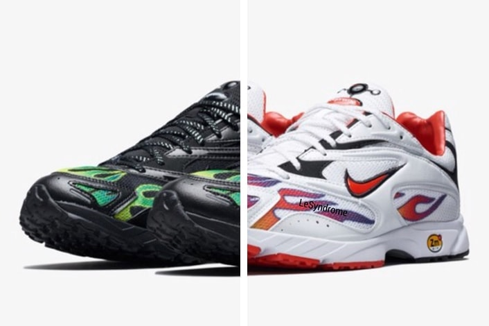 552a5b9852ba The latest eye-catching piece from them revitalizes an old 90 s Nike runner  with a fiery look. Check out the Supreme Zoom Streak Spectrum Plus ...