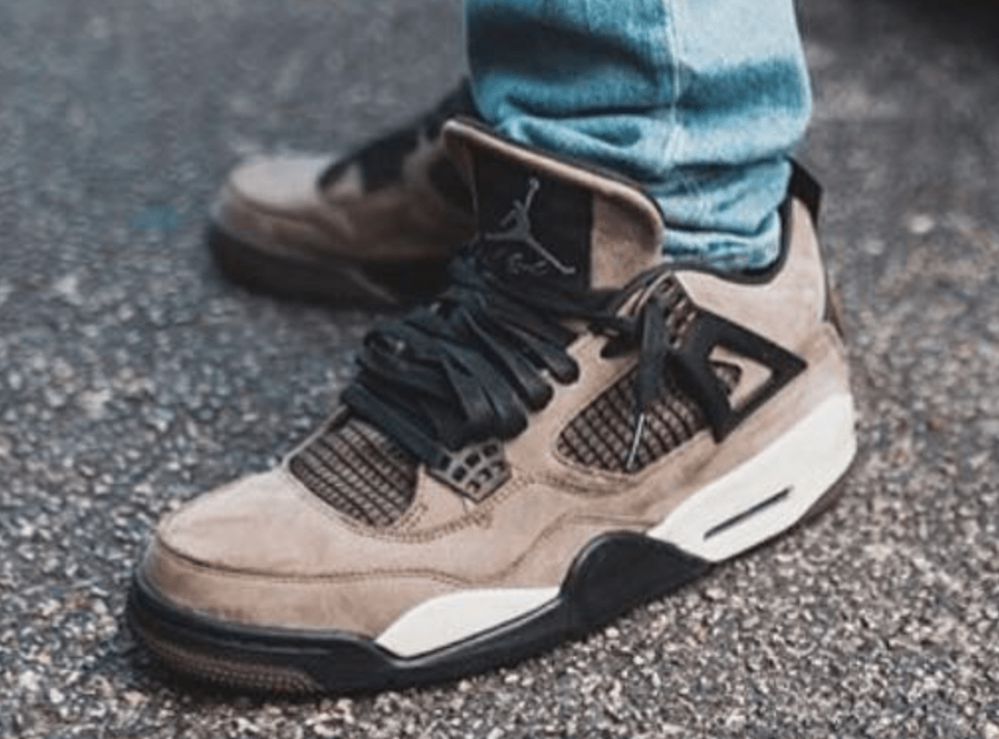 "super popular dda6b ca01a Travis Scott x Air Jordan 4 ""Olive"" Release Date  Fall Winter 2018. Price    225. UPDATE  The shoes pictured appear to be two different samples of this  shoe."