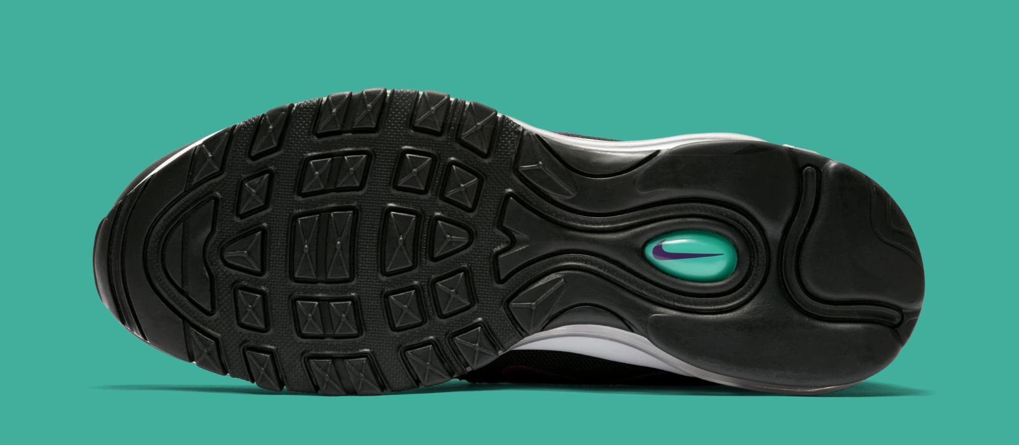 "the best attitude 17396 dce48 Nike Air Max 97 WMNS ""Black Grape"" Release Date  June 2018. Price   170.  Color  Black Bright Grape Clear Emerald Style Code  921733-008"