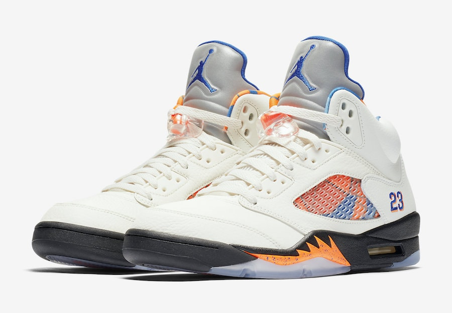 "395b578feb3 Air Jordan 5 ""International Flight"" Release Date: August 25th, 2018. Price:  $190. Color: Sail/Orange Peel-Black-Hyper Royal Style Code: 136027-148"