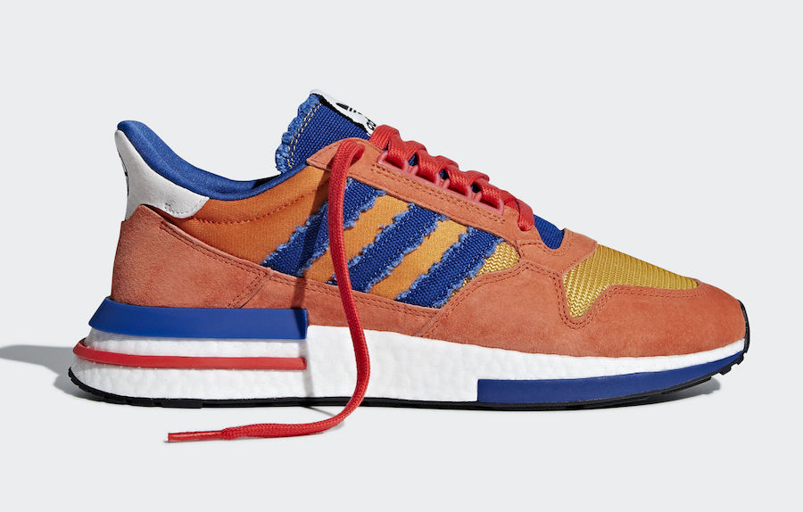 0da2688eb900d7 The Dragon Ball Z x adidas collection is almost here. After early images of  two pairs leaked online this month