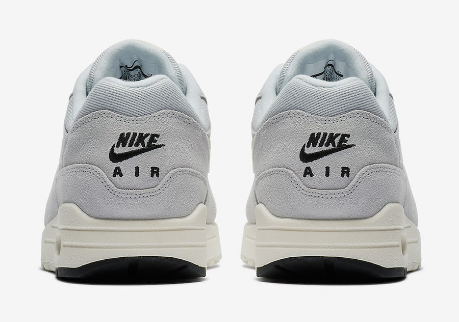"""454d2c47763f Nike Air Max 1 """"Platinum"""" Release Date  July 2018. Price   150. Color  Pure  Platinum Sail-Black-White Style Code  875844-006"""