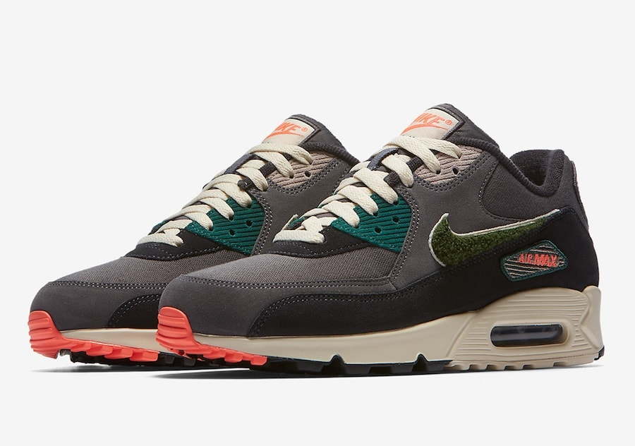 """1c41fffed8e The post Chenille Swooshes Adorn The New Nike Air Max 90 """"Rainforest"""" Coming  This Year appeared first on JustFreshKicks."""
