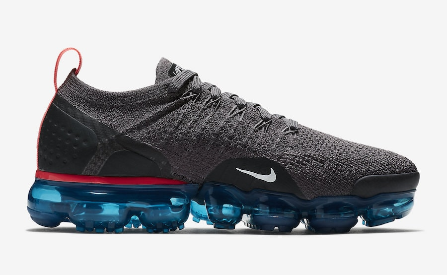 5d46580b397a Nike Air VaporMax 2 Flyknit Release Date  August 2018. Price   190. Color  Thunder  Grey White-Geode Teal-Black-Hot Punch Style Code  942843-009