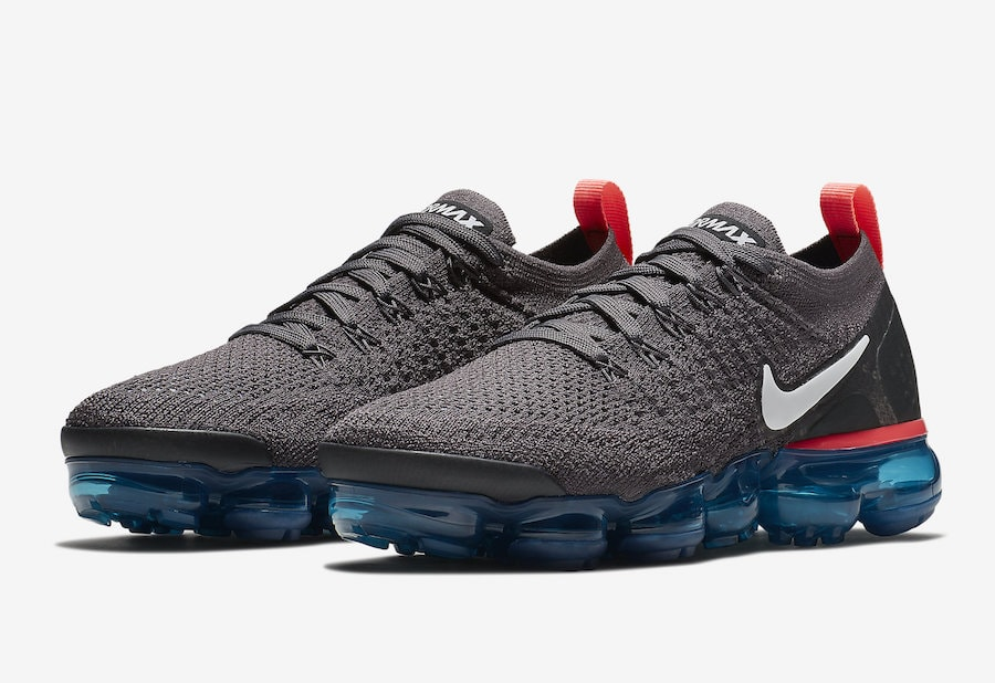 Nike Air VaporMax 2 Flyknit Release Date  August 2018. Price   190. Color  Thunder  Grey White-Geode Teal-Black-Hot Punch Style Code  942843-009 3a3c1ff24