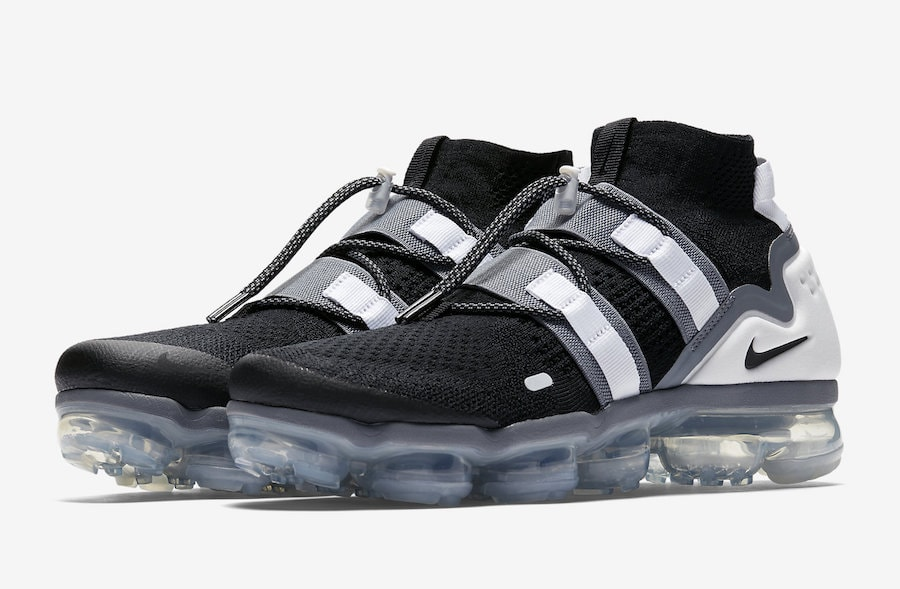 online retailer 92a82 7c20d Nike Air VaporMax Flyknit Utility Release Date August 2nd, 2018. Price  225. Color BlackBlack-Cool Grey-White-Pure Platinum Style Code  AH6834-003