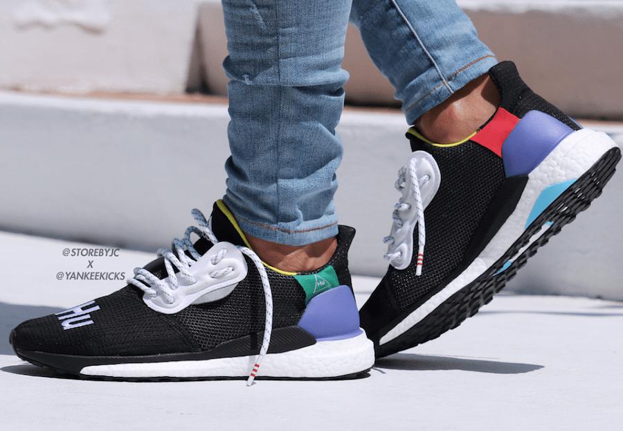 Pharrell X Adidas Solar Glide Hu Black First Look