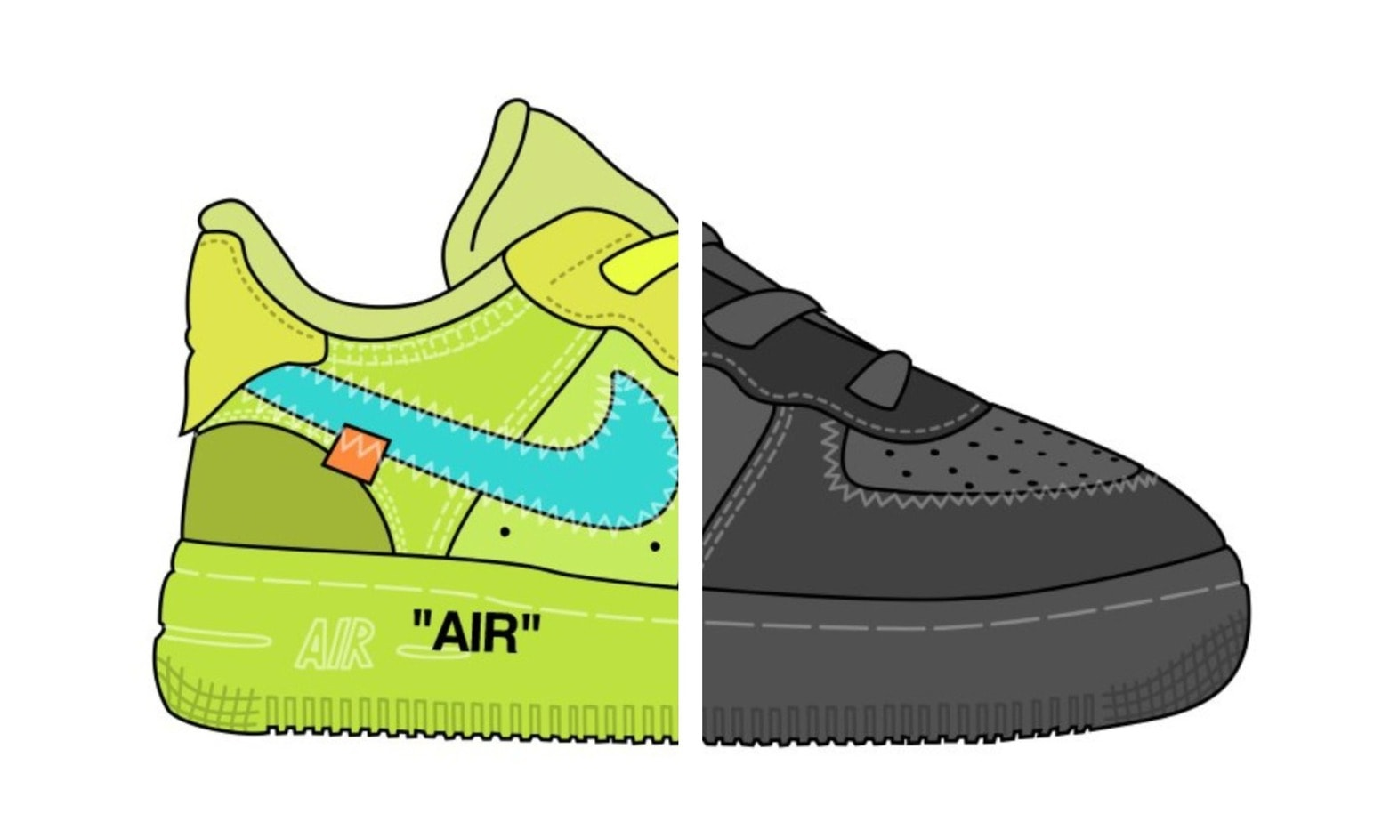 5f193db54b Earlier this year, we took a look at two new iterations of the Off-White x Nike  Air Force 1 Low dropping this year. The Volt & Black colorways look great,  ...