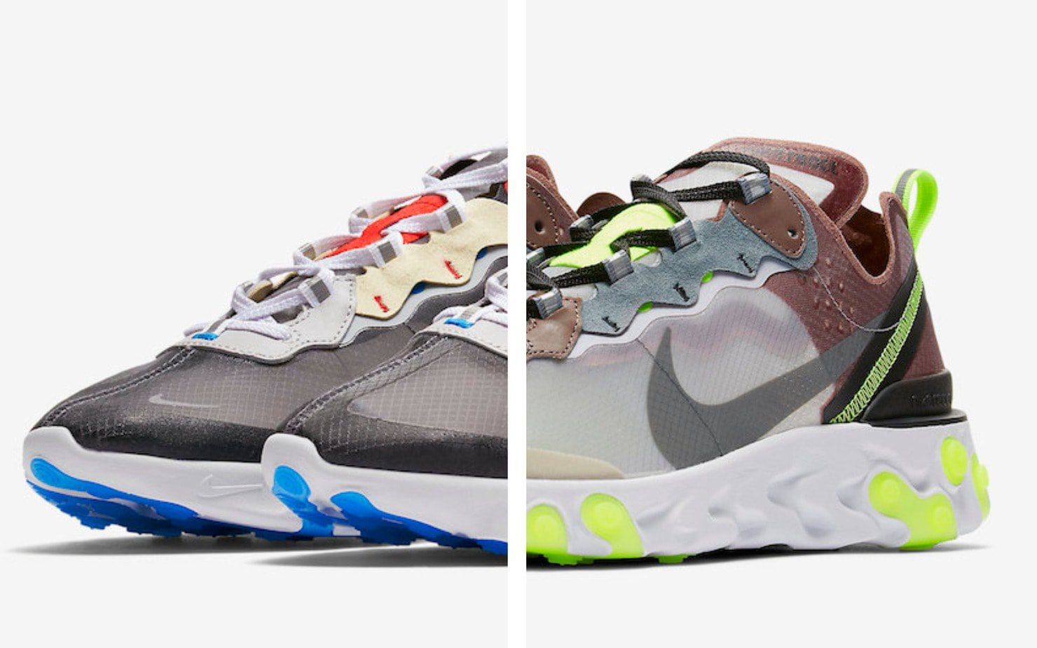 hot sale online c534b ad773 The Nike React Element 87 finally launched this month, after almost a year  of teasers online. The new silhouette has been incredibly well-received, ...