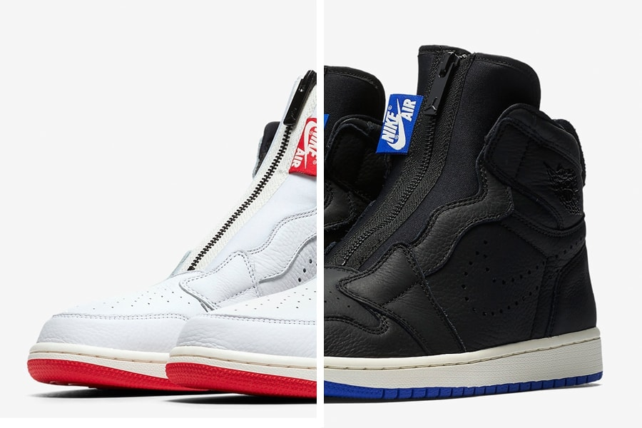 Air Jordan 1 High Zip Men's White & Black Release Info ...