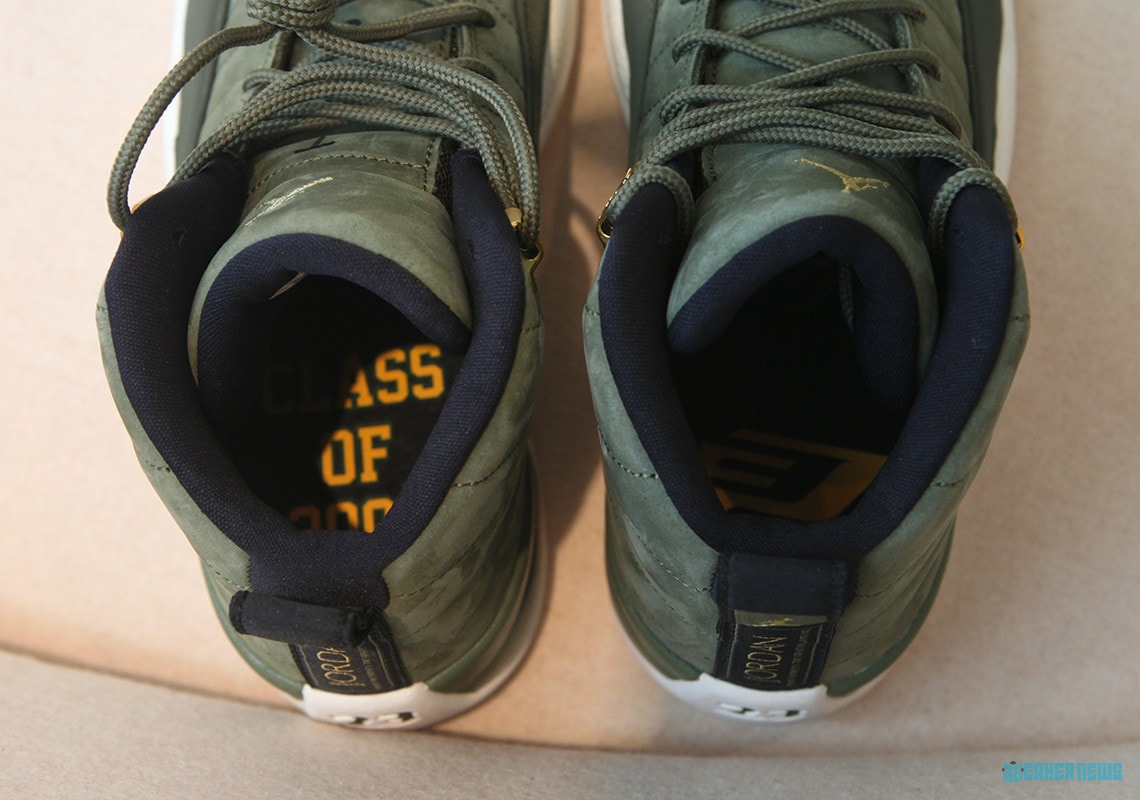 """various colors 20e09 e44eb Air Jordan 12 CP3 """"Class of 2003"""" Release Date  August 11th, 2018. Price    190. Color  Olive Canvas Sail Black-Metallic Gold Style Code  130690-301"""