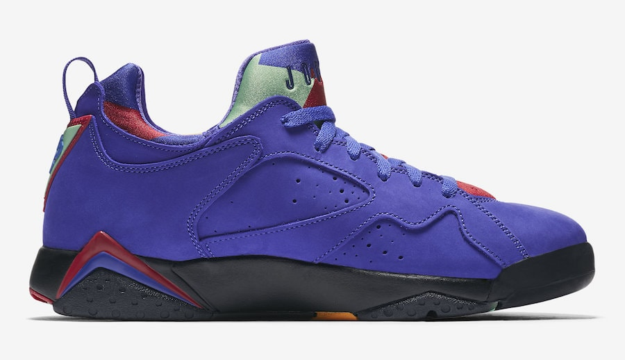 a985c5cfac68 Air Jordan 7 Low NRG Color  Bright Concord Black-Midas Gold-Tourmaline  Style Code  AR4422-407