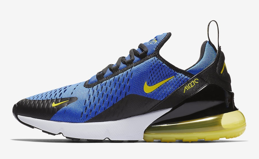 8a5529c54de1 Nike Air Max 270. Release Date  Coming Soon Price   150. Color  Game  Royal Dynamic Yellow-Black-White Style Code  BV2517-400