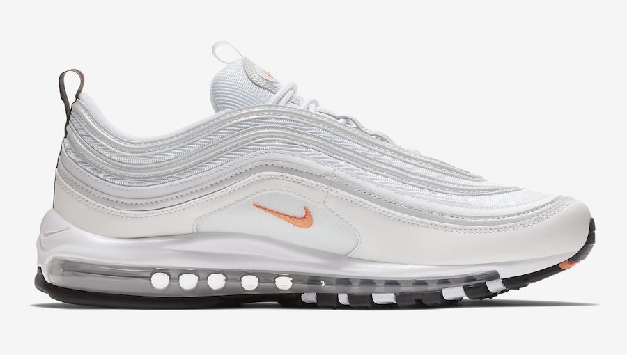The post Nike s Air Max 97 is Launching in a Clean White Look With orange  Hits for Fall appeared first on JustFreshKicks. 5d4fbf4c9