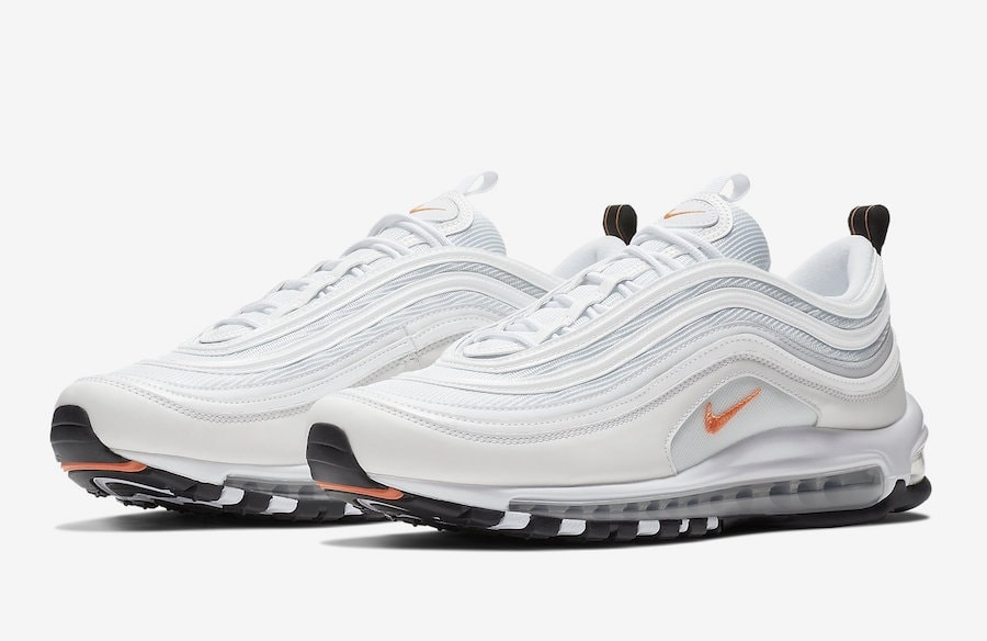 a9e87473a4bf2f Nike s Air Max 97 is Launching in a Clean White Look With orange Hits for  Fall
