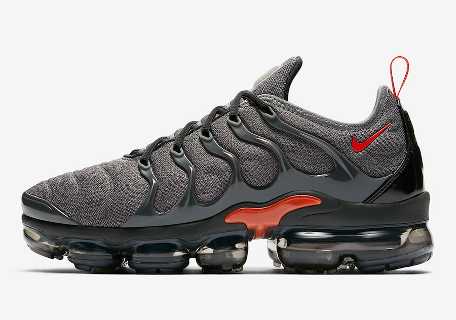 71a22a283d3f78 Nike Air VaporMax Plus Release Date  Coming Soon Price   190. Color  Wolf  Grey Wolf Grey Habanero Red Style Code  924453-012